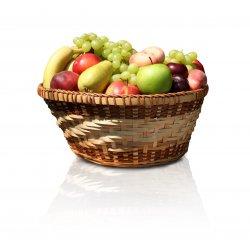 Fruktkurv m/epler,pærer,bananer 9kg