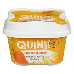 Urkorngrøt Mango&Syrlig Havtorn Quini