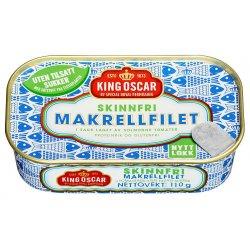 King Oscar Makrell i Tomat SKINNFRI 110g
