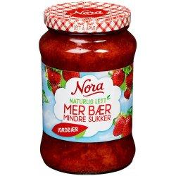 Jordbærsyltetøy Naturlig Lett Nora