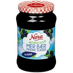 Blåbærsyltetøy Naturlig Lett Nora