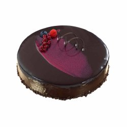 Moussekake Sjokolade/Bringebær Mandelbunn