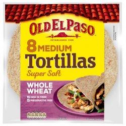 Tortillas Fullkorn Medium Old El Paso