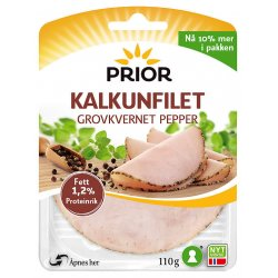 Prior Kalkunfilet Grovkvernet Pepper