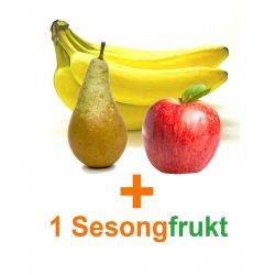 Fruktkartong Bananer,Epler&KUN TO PK DRUER